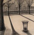 The Evening In Tuileries Paris by Raimonda Jatkeviciute-Kasparaviciene