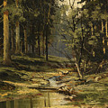 The Forest Brook by Ivan Shishkin