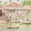 The Market Belize British Honduras by Henry Scott Tuke