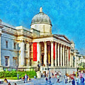 The National Gallery And St Martin In The Fields Church by Digital Photographic Arts