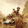 The Threshing Floor by Francisco Goya y Lucientes