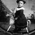 Toddler Rocking Horse 1890s Black White Archive by Mark Goebel