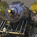 Train Engine No. 734 by Timothy Flanigan and Debbie Flanigan Nature Exposure