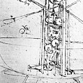Vertically Standing Bird's Winged Flying Machine by Leonardo da Vinci