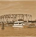 Vintage Swing Bridge In Sepia 2 by Bob Sample