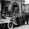 W Recruiting Parade 1918 Black White 1910s Bank by Mark Goebel