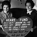 Women Females Heart Fund Sign 19591960 Black by Mark Goebel