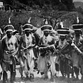 Yurok Indians In Ceremonial Costumes Circa 1905 by Mark Goebel