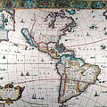New World Map, 1616 by Granger