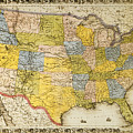 United States Map, 1866 by Granger