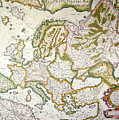 Map Of Europe, 1623 by Granger
