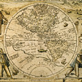 W. Hemisphere Map, 1596 by Granger