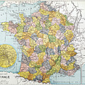 Map Of France, C1900 by Granger