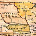 Kansas-nebraska Map, 1854 by Granger