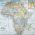 Map: Africa, 19th Century by Granger