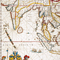 South Asia Map, 1662 by Granger