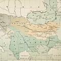 Balkan Map, 1885 by Granger