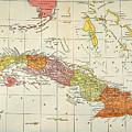 Map: Cuba, 1900 by Granger