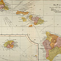 Map: Hawaii, 1905 by Granger