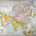 Asia Map Late 19th Century by Granger
