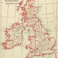 Map: British Isles, C1890 by Granger