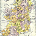 Map: Ireland, C1890 by Granger