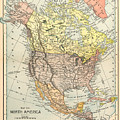 Map: North America, 1890 by Granger