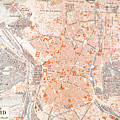 Spain: Madrid Map, C1920 by Granger