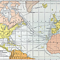 Map: Atlantic Voyages by Granger