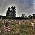 01 Flags For Fallen Soldiers Of Sep 11 by Michael Frank Jr