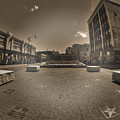 02 Plaza Of Stars Sepia Tone  by Michael Frank Jr