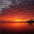 0205 Awesome Sunset Colors On Santa Rosa Sound by Jeff at JSJ Photography