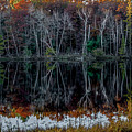 02l Reflections At  Gowen Michigan by Dennis R Bean