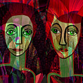 039   Two Pensive Women A by Irmgard Schoendorf Welch