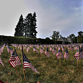 04 Flags For Fallen Soldiers Of Sep 11 by Michael Frank Jr