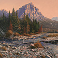 080525-1620  Fading Light On Horse Thief Creek by Kenneth Shanika