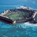 Fort Jefferson In The Gulf Of Mexico by Carl Purcell
