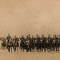 180 Degrees Panorama Troops Passing In Review No Date Or Locale Restored Color Added 2008 by David Lee Guss