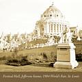 1904 Worlds Fair, Festival Hall, Jefferson Statue by A Gurmankin