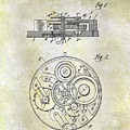 1908 Pocket Watch Patent  by Jon Neidert