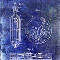 1913 Pocket Watch Patent Blue by Jon Neidert