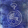 1916 Pocket Watch Patent Blueprint by Jon Neidert
