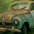 1950's Vintage Borgward Hansa Sports Coupe Car by Arlene Price