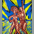 2 Nude Dancers by Albert  Almondia