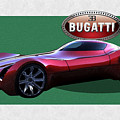 2025 Bugatti Aerolithe Concept With 3 D Badge  by Serge Averbukh