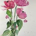 3 Pink Flowers by Britta Zehm
