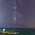 A Boat Under The Milky Way In Andros - Greece by Constantinos Iliopoulos