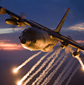 A C-130 Hercules Releases Flares by HIGH-G Productions