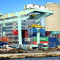 A Container Is Loaded In Kaohsiung Port by Yali Shi