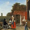 A Dutch Courtyard by Pieter de Hooch